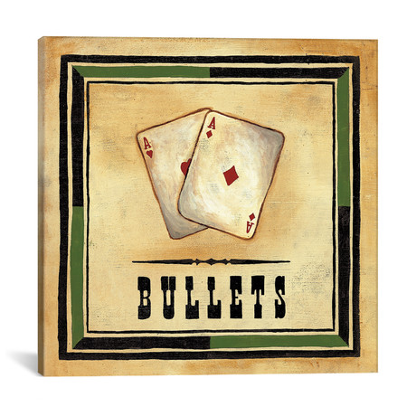 "Bullets // Jocelyne Anderson (18""W x 18""H x 0.75""D)"