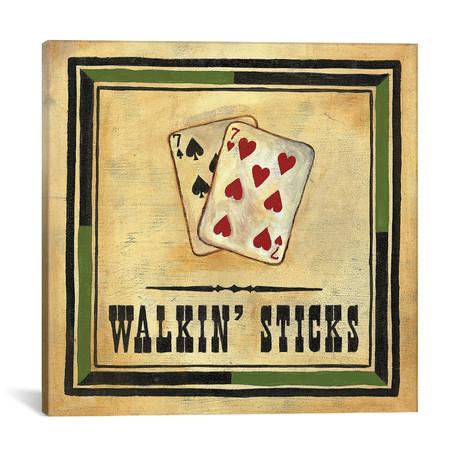 """Walkin' Sticks // Jocelyne Anderson (18""""W x 18""""H x 0.75""""D)"""