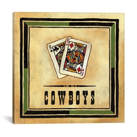 "Cowboys // Jocelyne Anderson (18""W x 18""H x 0.75""D)"