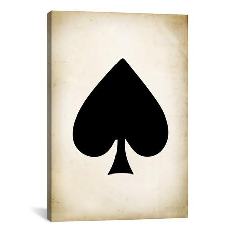 """Card II: Spade // PatentPrintStore (18""""W x 26""""H x 0.75""""D)"""