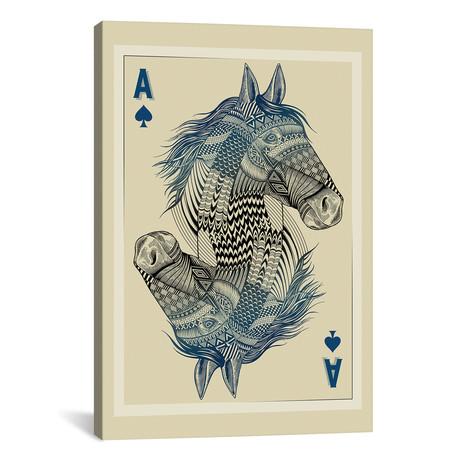 "Geo Horse // Rachel Caldwell (18""W x 26""H x 0.75""D)"