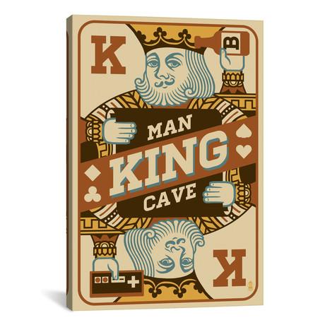 "The King's Man Cave // Lantern Press (18""W x 26""H x 0.75""D)"