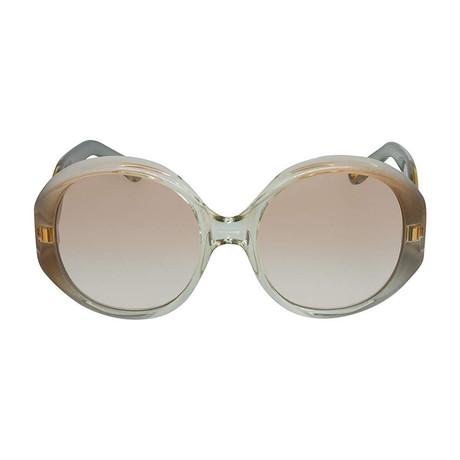 Chloe // Oval Sunglasses // Gray