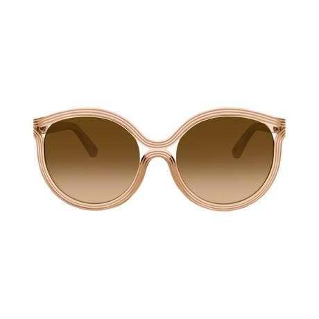 Chloe // Cat Eye Sunglasses // Beige + Brown