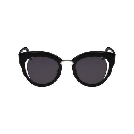 Ferragamo // Butterfly Sunglasses // Black + Gray Gradient