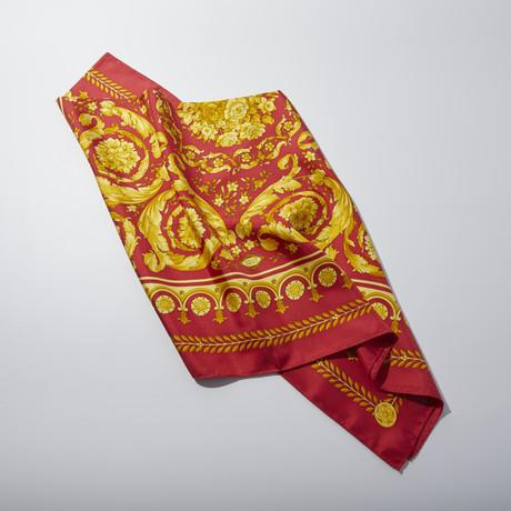 Women's Silk Scarf // Red