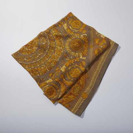 Women's Scarf // Yellow + Brown
