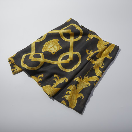 Women's Scarf // Black + Yellow