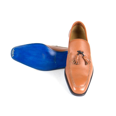 Sutor Mantellassi // Tassel Leather Shoes // Tobacco (US: 10)