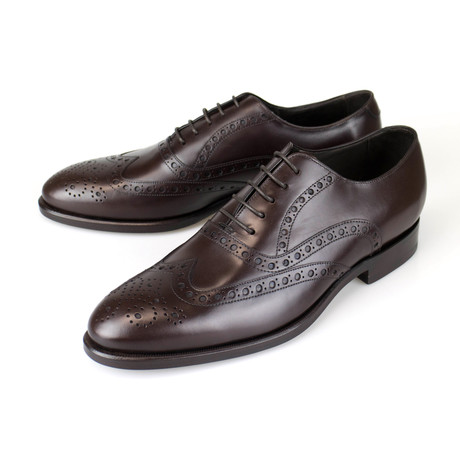 Canali 1934 // Leather Wingtip Design Oxford Dress Shoes // Brown (US: 8)