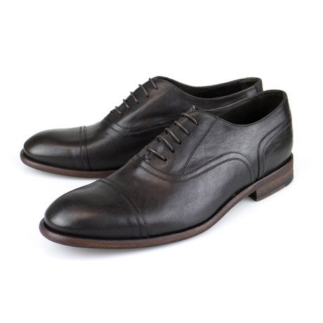 Canali 1934 // Leather Oxford Dress Shoes // Brown (US: 8)