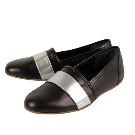 Balmain Paris // Leather + Silver Band Shoes // Black (US: 7)