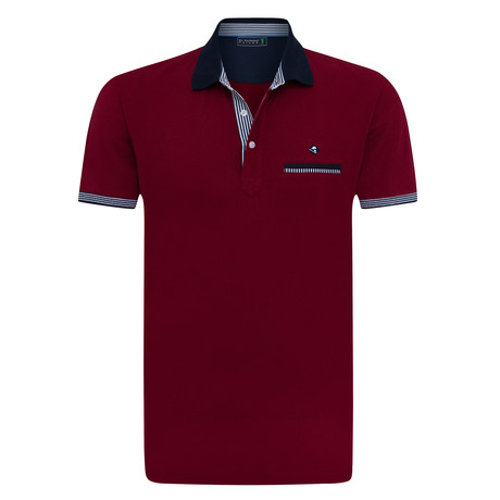 Whole Short Sleeve Polo // Bordeaux (XS)