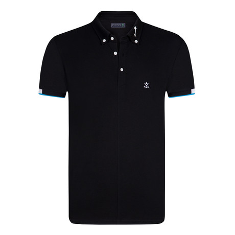 House Short Sleeve Polo // Black (XS)