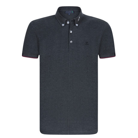 House Short Sleeve Polo // Anthracite (XS)