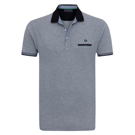 Whole Short Sleeve Polo // Gray Melange (XS)