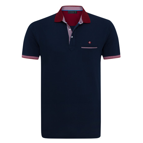 Whole Short Sleeve Polo // Navy (XS)