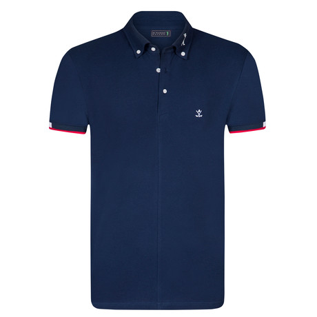House Short Sleeve Polo // Navy (XS)