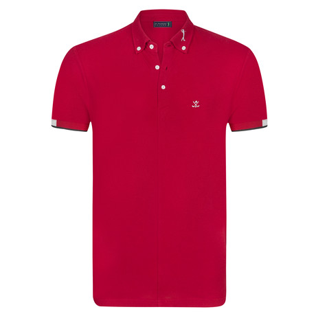 House Short Sleeve Polo // Bordeaux (XS)