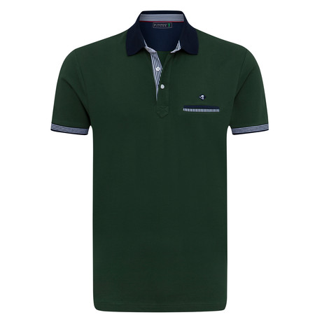 Whole Short Sleeve Polo // Green (XS)