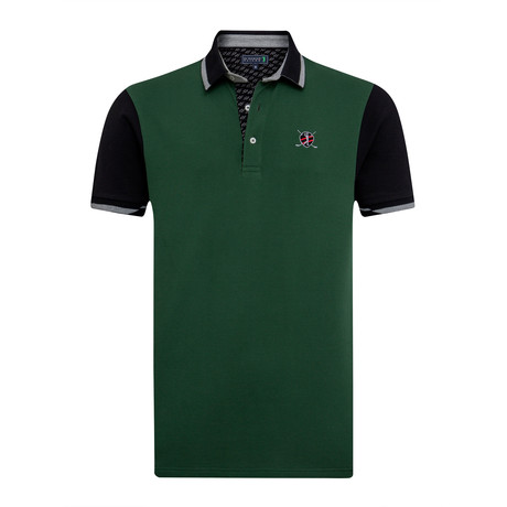 Mainly Short Sleeve Polo // Green + Black (XS)