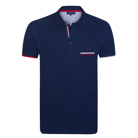 Juice Short Sleeve Polo // Navy (XS)