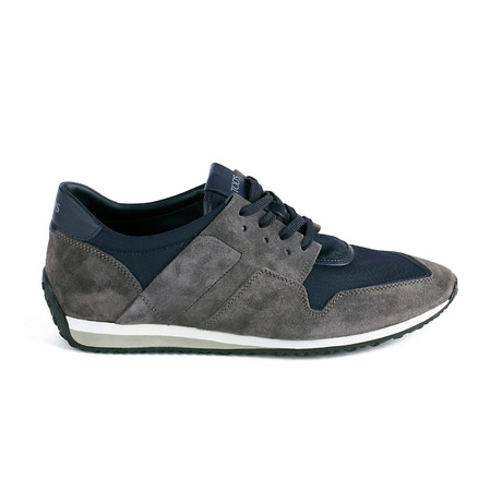 Suede + Fabric Low Top Sneaker // Gray (UK 5)
