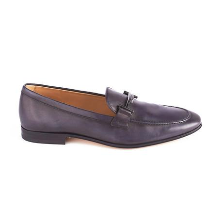 Leather Loafer Moccasins // Black (UK 5)