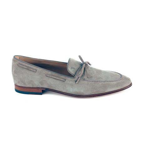 Suede Loafer Moccasins // Slate (UK 5)