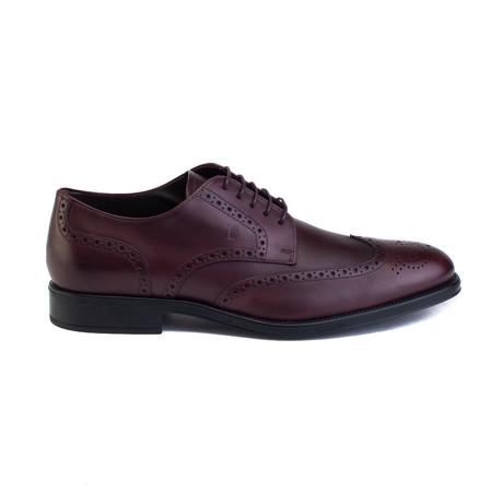 Leather Derby Brogue Dress Shoe // Dark Brown (UK 5)