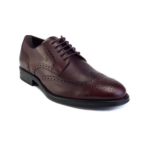 Leather Derby Brogue Dress Shoe // Dark Brown (US: 6)