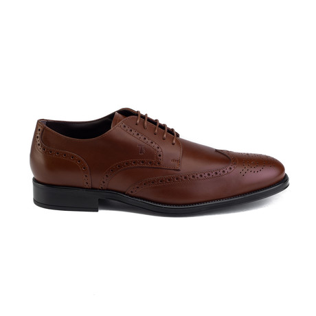 Leather Brogue Derby Dress // Brown (UK 6)