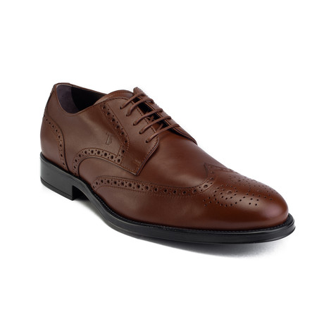 Leather Brogue Derby Dress // Brown (US: 7)