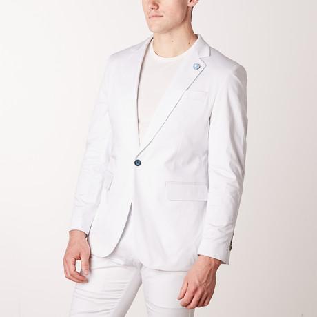 Solid Casual Blazer // White (S)