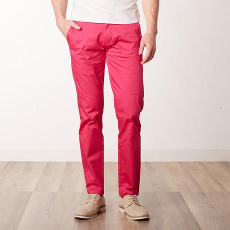 Comfort Fit Casual Chino Pant // Azalea (36WX34L)