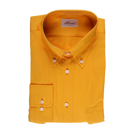 Garrett Solid Dress Shirt // Amber (L)