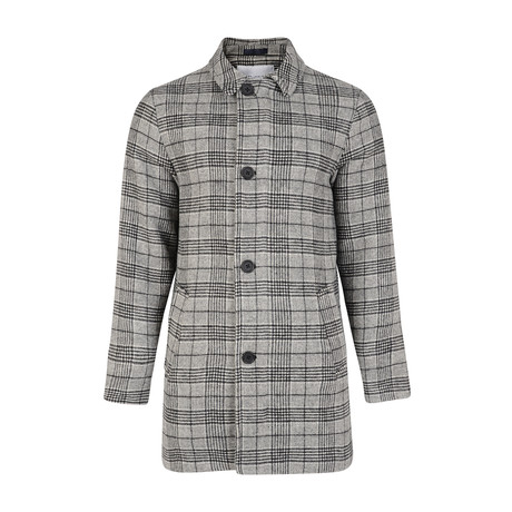 Buckhan Check Wool Mac // Gray (S)