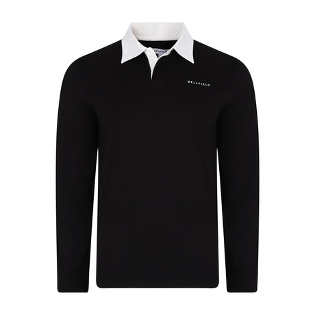Kruger Long-Sleeve Rugby Shirt // Black (S)