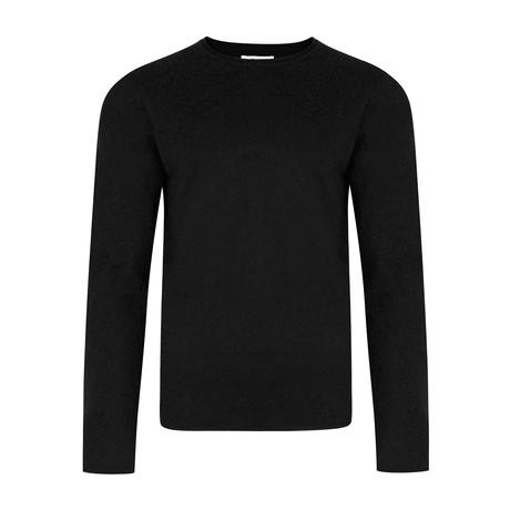 Nile Basic Fine Knit Sweater // Black (S)