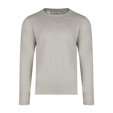 Nile Basic Fine Knit Sweater // Gray Marl (S)