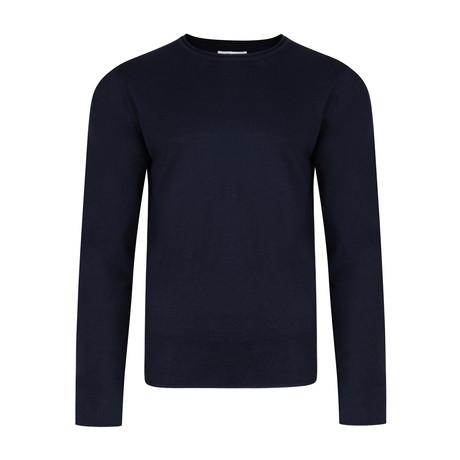 Nile Basic Fine Knit Sweater // Navy (S)