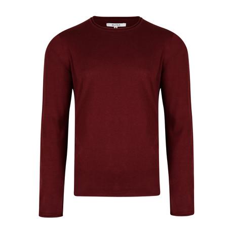 Nile Basic Fine Knit Sweater // Plum (S)