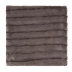 """Chinchilla Stripe Cuddle Fur Throw/Blanket // Charcoal (50""""L x 65""""W)"""