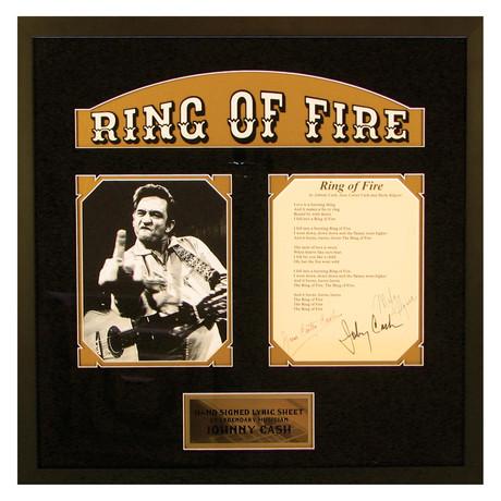 Signed Lyrics // Ring of Fire