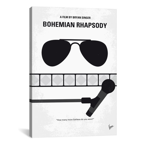 "Bohemian Rhapsody Minimal Movie Poster // Chungkong (18""W x 26""H x 0.75""D)"