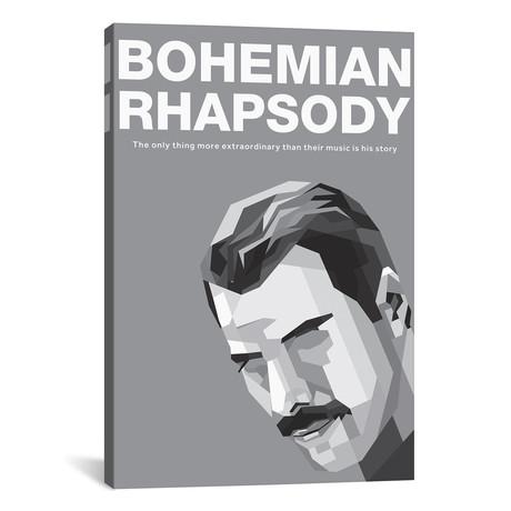 "Bohemian Rhapsody Alternative Poster // Freddy // Popate (18""W x 26""H x 0.75""D)"