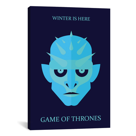 """Game of Thrones Minimalist Poster // Ice King // Popate (18""""W x 26""""H x 0.75""""D)"""