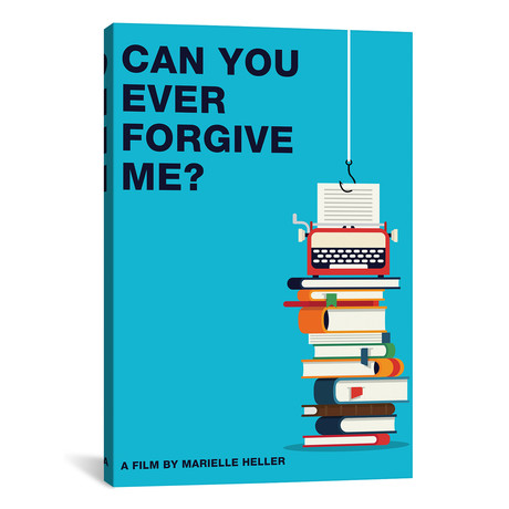 """Can You Ever Forgive Me Minimalist Poster // Color (18""""W x 26""""H x 0.75""""D)"""