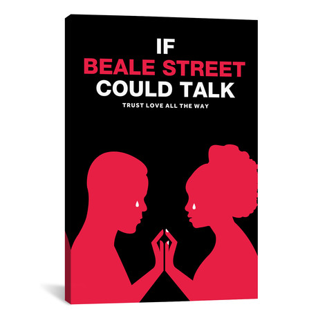 """If Beale Street Could Talk Minimalist Poster // Color (18""""W x 26""""H x 0.75""""D)"""
