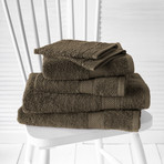 Helene Bath Linen Set // Marron Falcon (Set of 6 // Bath Mitts)